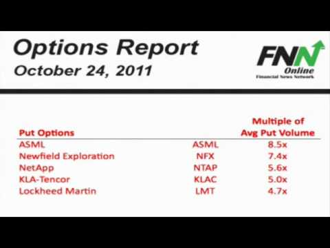 ASML and Newfield Exploration are Among the Companies With Heavy Put Option Volume