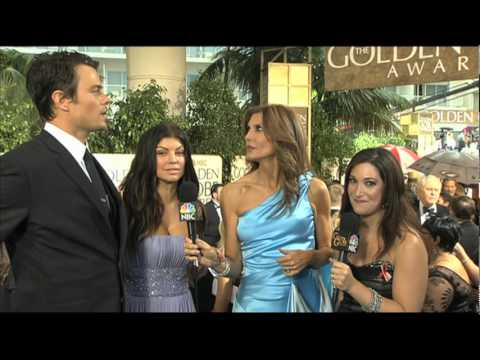 Golden Globes 2010 Red Carpet Fergie & Josh Duhamel