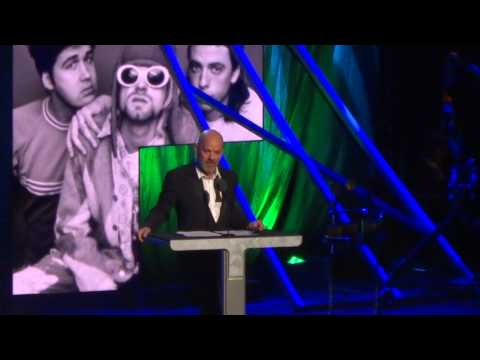Rock Hall-Michael Stipe Inducts Nirvana
