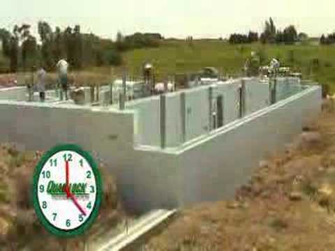 Insulated Concrete Forms ICF Assembly Time Lapse