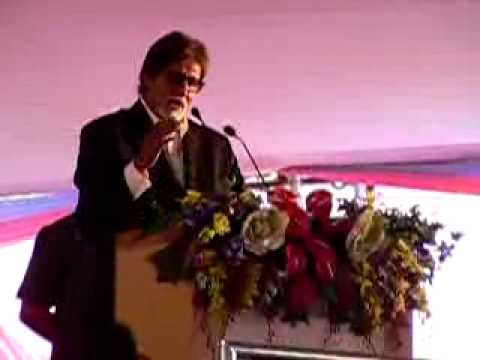 Amitabh Bacchan In Gondia Recieting AGNEEPATH!!