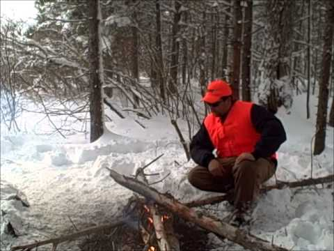 Dave From Bethel - Dave Has A Campfire In The Maine Woods In The Winter