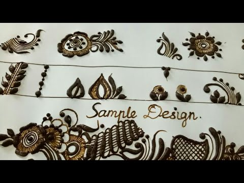 Basic pattern of henna design - part 3