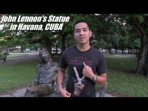 I love The Beatles! My Trip to Cuba - John Lennon's Statue in Havana