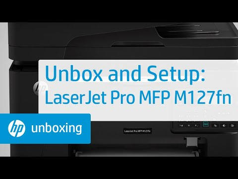 Unboxing and Setup of the LaserJet Pro MFP M127fn