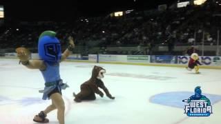 Argie Defends Championship at Pensacola Ice Flyers Mascot Race
