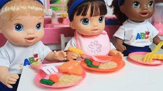 ROTINA DO DIA DAS BABY ALIVES COMPLETO - Lilly Doll