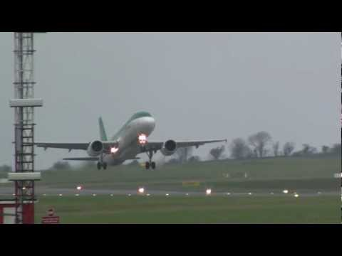 Aer Lingus A320-214 (EI-DEN) Powerful take off  @ Cork