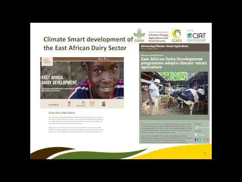 The Science base for Climate-Smart Agriculture in East Africa Webinar 28.08.14