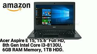 "Acer Aspire E 15, 15.6"" Full HD, 8th Gen Intel Core i3-8130U, 6GB RAM Memory, 1TB  En #Amazon"