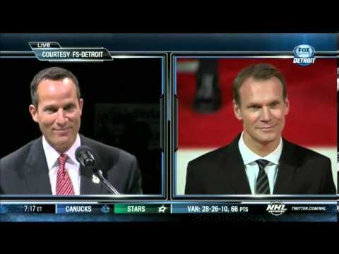 Nicklas Lidstrom Banner Raising Ceremony [Full]
