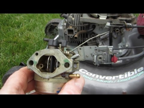 Honda Harmony II HRT 216 SDA Carburetor Cleaning Lawn Mower Repair - Part II - March 27. 2013