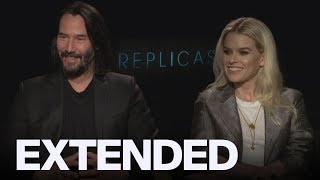 Keanu Reeves And Alice Eve Talk Art Imitating Life In 'Replicas'   EXTENDED