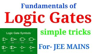 logic gates important trick in hindi