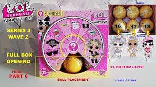 FULL BOX Opening LOL Confetti Pop Series 3 Wave 2! Part 6 Unicorn, Flower Child, Short Stop