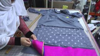 sewing a lining dress