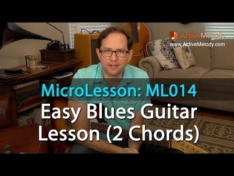 Easy Blues Guitar Lesson - MicroLesson ML014