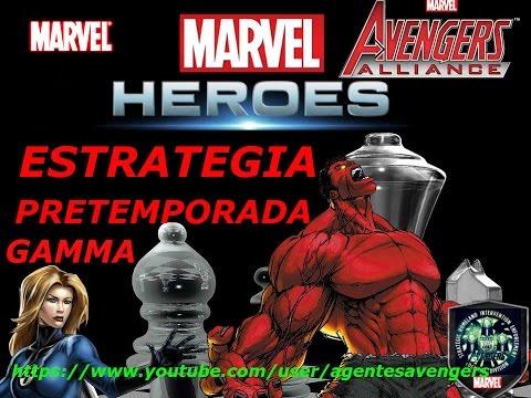 marvel avengers alliance pretemporada gamma (estrategias pvp)