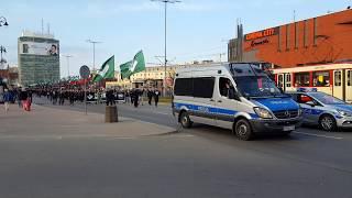 Marsz faszystowskiego ONR w Gdańsku z 14 kwietnia 2018