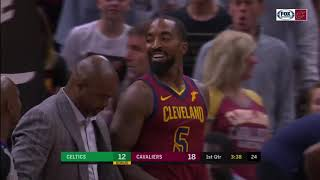 J.R. Smith and Aron Baynes Fight,  Marcus Smart Ejected