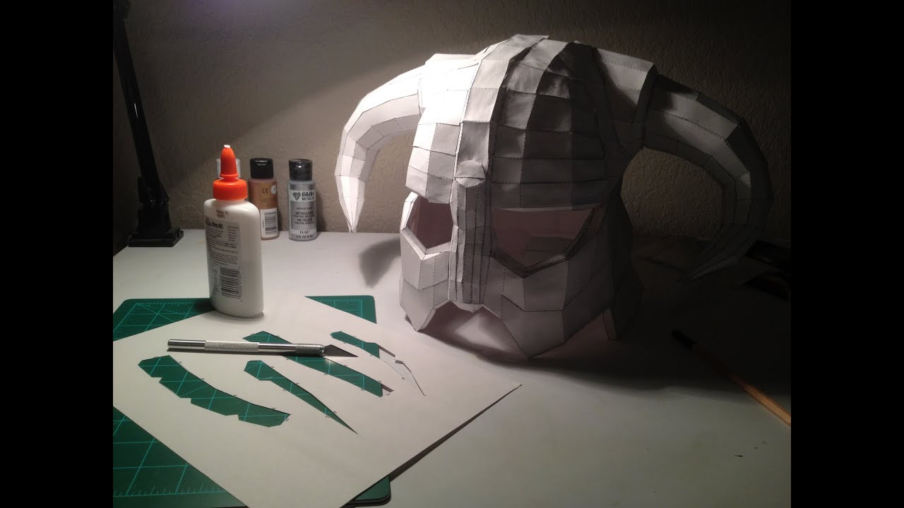 Skyrim Helmets Drawing Making a Skyrim Helmet pt 1