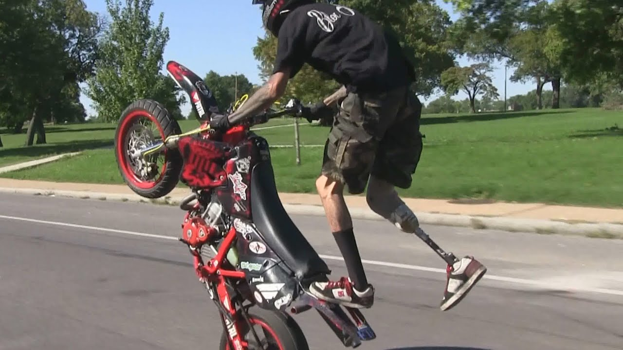 Bike Stunts Videos Youtube LEG Stunt Bike Rider Riding