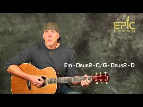 Learn Matchbox 20 Twenty Push fun guitar song lesson Beginner Intermediate with chords strums