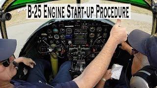 B-25 Mitchell FULL Engine Start-up Procedure