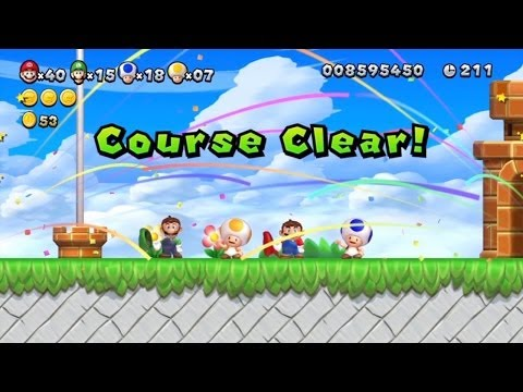 New Super Mario Bros. U co-op walkthrough (with commentary) Part 39 [FINALE]