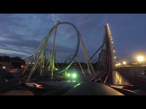 [4K] Mako Hypercoaster at Night, Roller Coaster POV, SeaWorld Orlando
