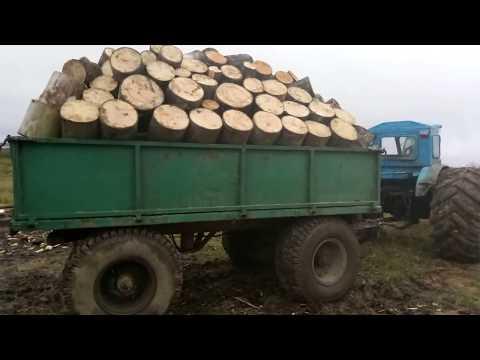 Мощнейший прицеп для леса на 15 тонн
