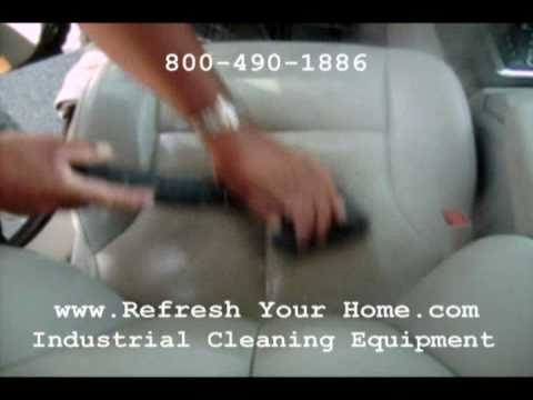 AUTO-DETAIL Leather Seats Steam Cleaner. Commercial Vapor Steam Cleaners clean leather!