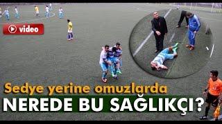 Sakatlanan Futbolcu Sahadan Arkadaşlarının Omuzunda Çıktı