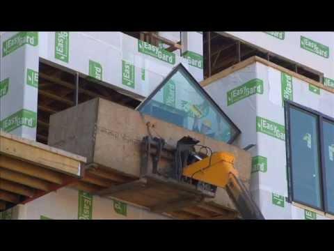 Marvin Windows case study:  Hudson Harbor Lookout Building Window Installation