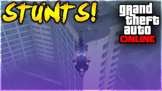 GTA 5 - EPIC BATI 801 GLITCH GLIDE STUNT! (GTA 5 Stunt Challenge)