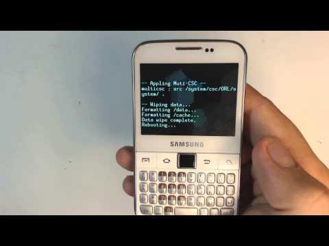Samsung Galaxy Y Pro B5510 - How to reset - Como restablecer datos de fabrica