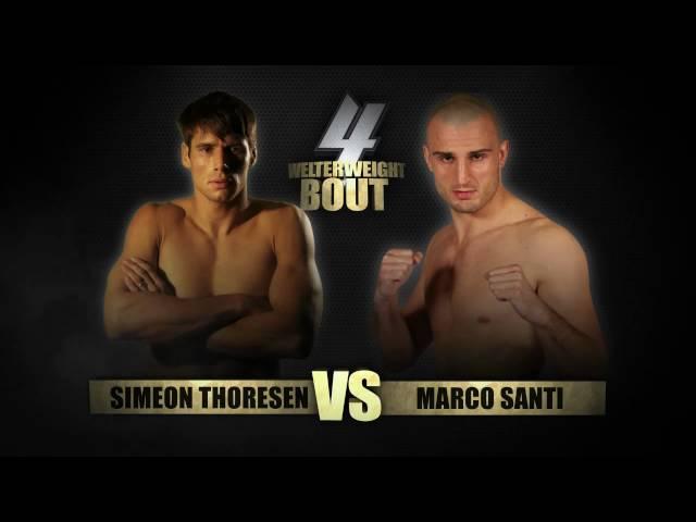 BAMMA 4 - SIMEON THORESON VS MARCO SANTI