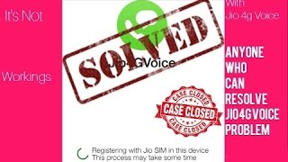 Jio 4g voice registration issue fixed (100% working) WITH PROOF WATCH