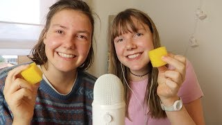 ASMR sister tries trigger sounds
