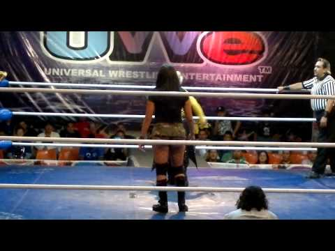 Faby Apache y Lolita vs Hechicera y  Sexy Lady   AAA