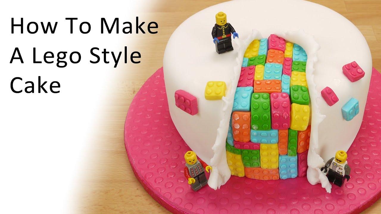 Cake Tv Show Crafts : Lego Style Cake - YouTube