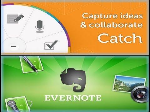 Las mejores aplicación para crear notas en android - Evernote y Catch Notas