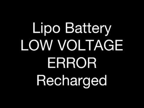 RC CWR - Lipo LOW VOLTAGE ERROR recharge battery
