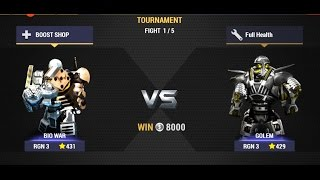 Real Steel Champions | TOURNAMENT | BIO WAR VS Golem NEW ROBOTS GAME (Живая сталь)