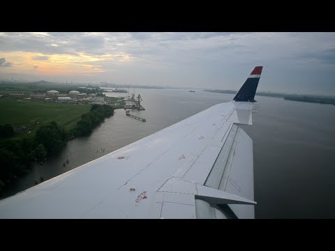HD US Airways (Air Wisconsin) CRJ-200 Landing Philadelphia PHL