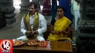 Vivek Oberoi Visits Srikalahasteeswara Temple Along With His Wife