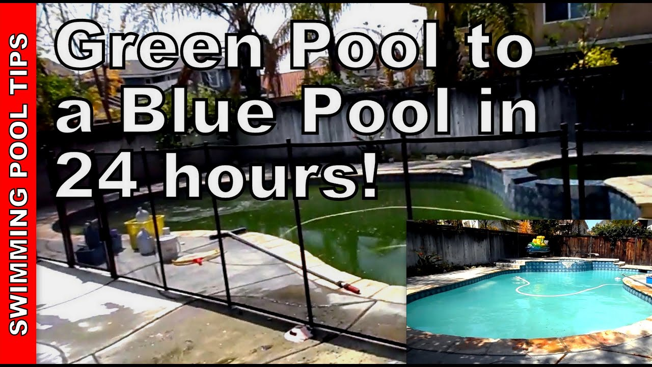 How to clean a green pool part 1 of 2 youtube How to draw swimming pool water