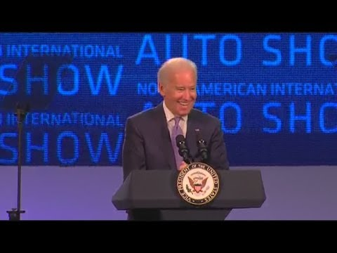Vice President Joe Biden speaks at North American International Auto Show
