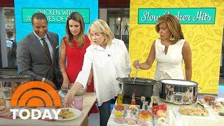 Martha Stewart's Slow-Cooker Chicken 3 Delicious Ways | TODAY