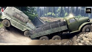 SPINTIRES 2014 - How to Load a UAZ in a Truck on The River Map